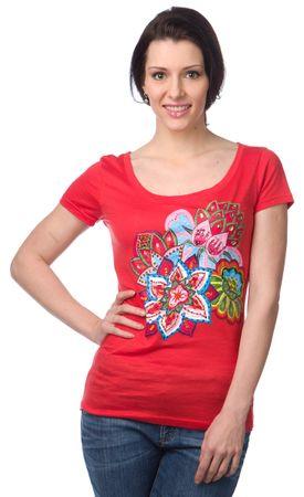 Desigual női póló M piros  b6c7f62d62
