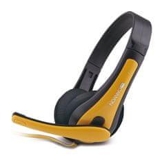 Canyon słuchawki nauszne z mikrofonem CNS-CHSC1BY, żółte