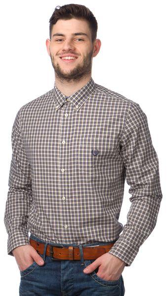 Chaps pánská kostičkovaná košile L béžová