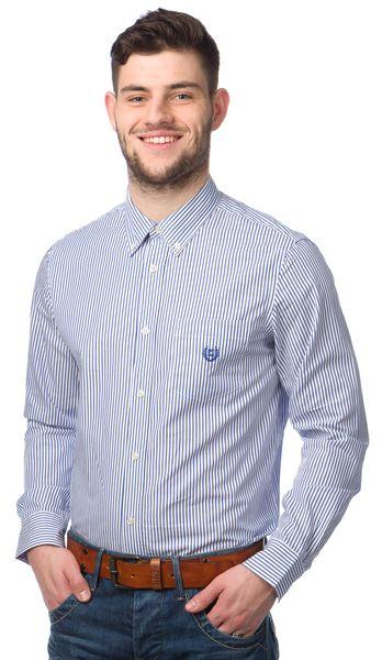 Chaps pánská proužkovaná košile S bílá