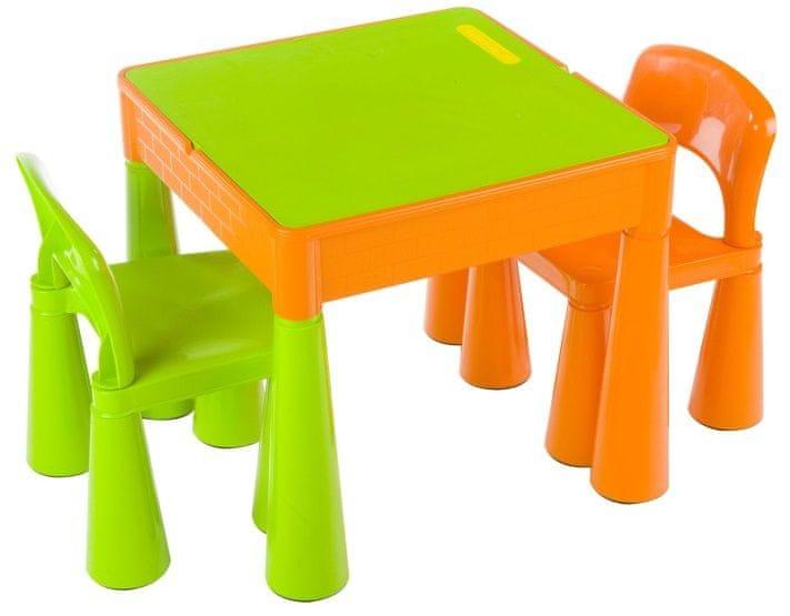 COSING Dětská sada Tega Mamut stoleček a 2x židlička - Oranžovozelená