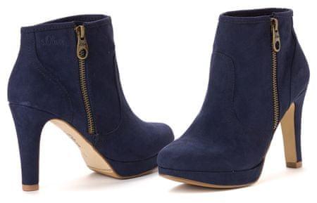 s.Oliver buty za kostkę damskie 37 ciemnoniebieski