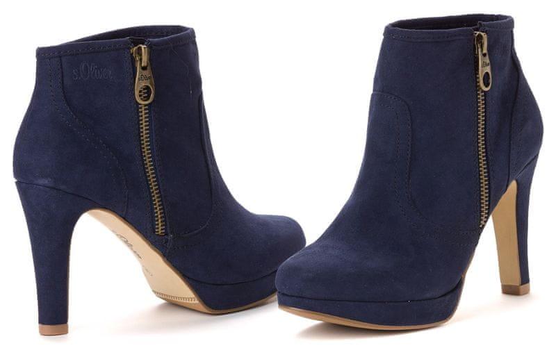 s.Oliver dámská kotníčková obuv 39 tmavě modrá