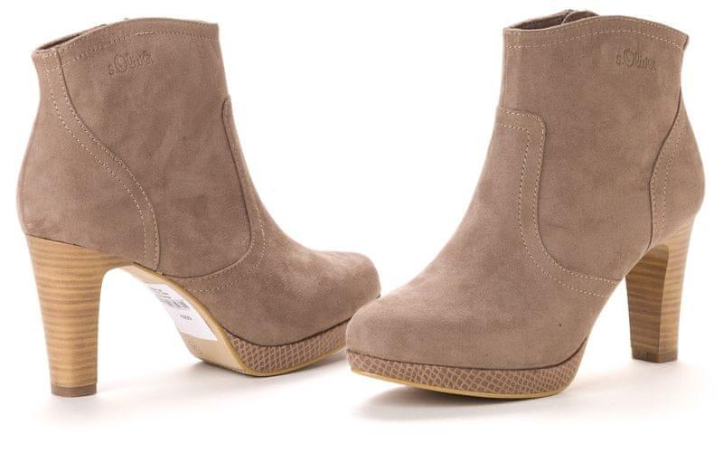 s.Oliver dámská kotníčková obuv 36 béžová