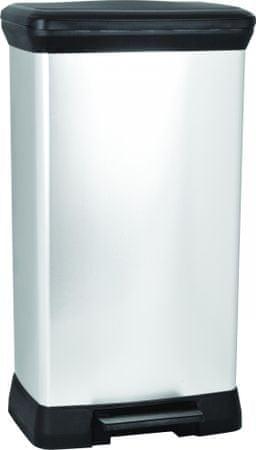 Curver Odpadkový koš Curver Decobin pedal stříbrný 50 l