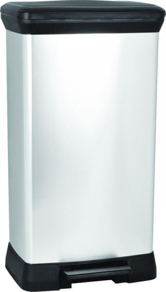 Curver Odpadkový koš Curver Decobin pedal 50l - stříbrný