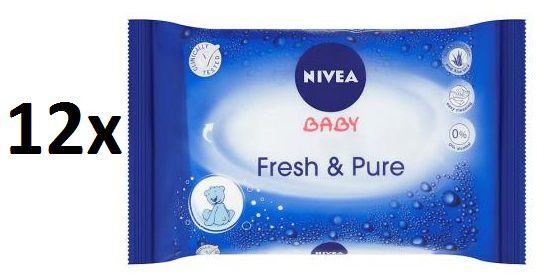 Nivea Baby vlhčené ubrousky Fresh&Pure 12x63ks