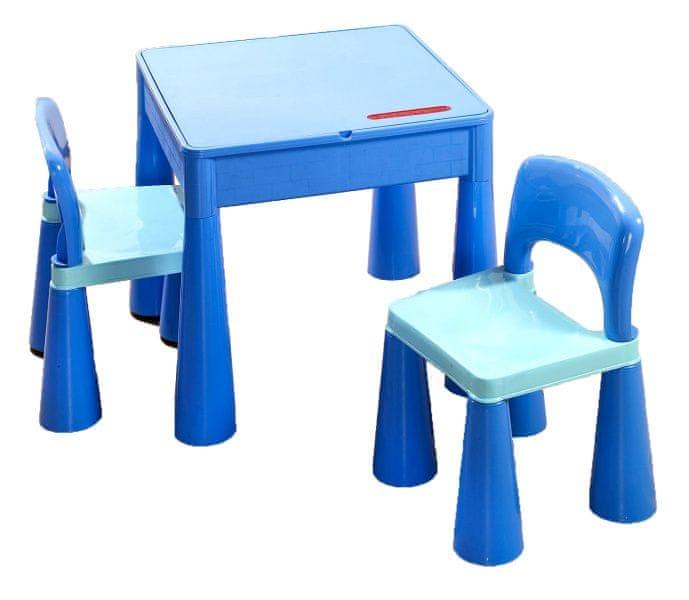 COSING Dětská sada Tega Mamut stoleček a 2x židlička - Modrá
