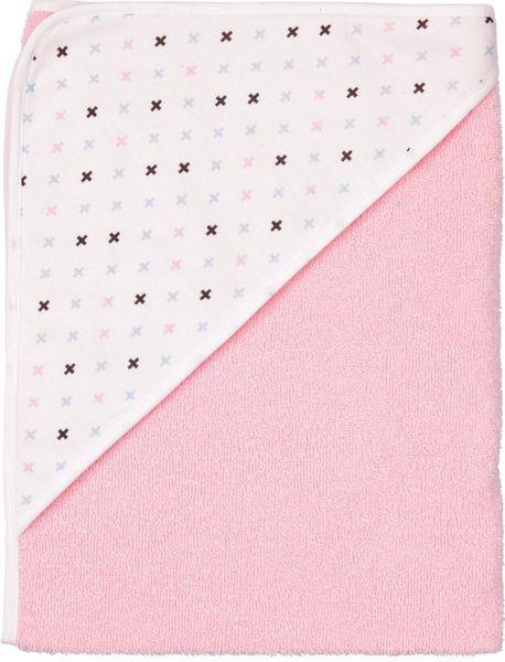 Luma Dětská froté osuška s kapucí - Pretty Pink