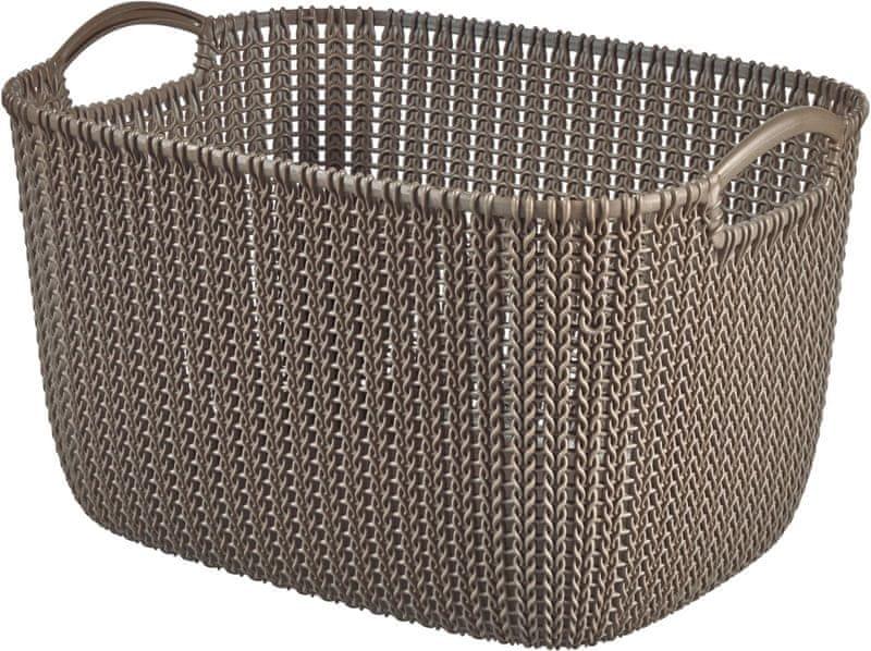 Curver Knit košík 19l hnědý