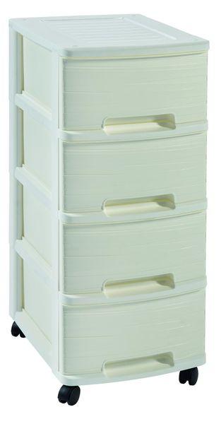 Curver Ribbon skříňka - 4 úložné boxy - bílá