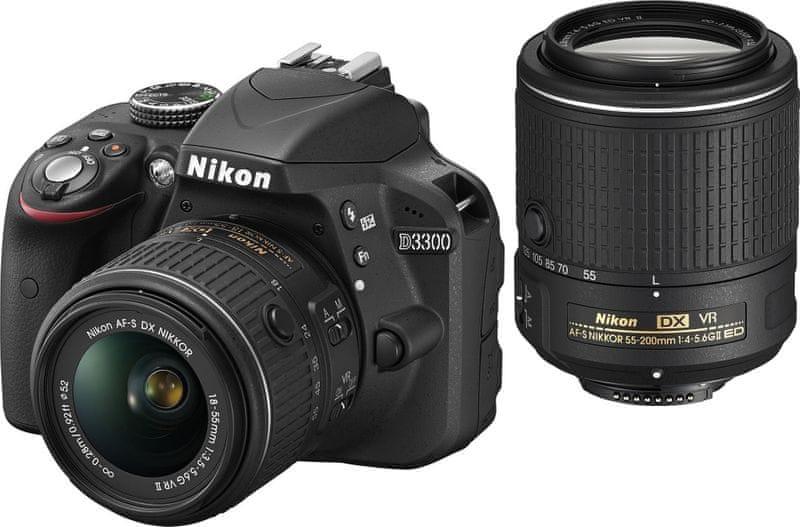 Nikon D3300 + 18-55 AF-P VR + 55-200 VR II