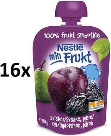 Nestlé Min Frukt Švestka s hruškou 16x90g