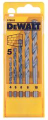 DeWalt 5-delni set svedrov za beton 4, 5, 6, 8, 10 mm (DT6952)