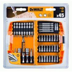 DeWalt 45-delni set vijačnih nastavkov z adapterji (DT71572)