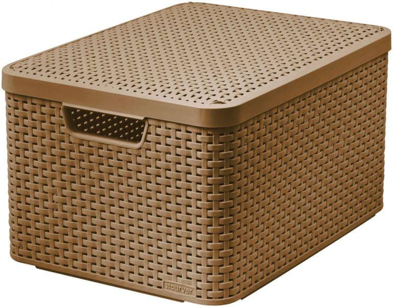 Curver Rattan Style box L sv. hnědý