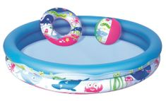 Bestway 51120 Nafukovací set - bazén, kruh, míč
