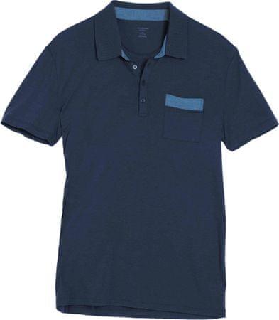Icebreaker majica Mens Quattro SS Polo, navy-cyan, XXL