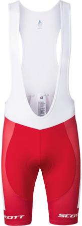 ODLO kratke hlače z naramnicami Team Rep, rdeča-bela, S