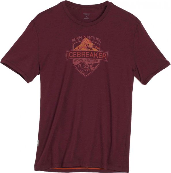 Icebreaker Mens Tech Lite SS Crewe Alpine Crest Redwood XL