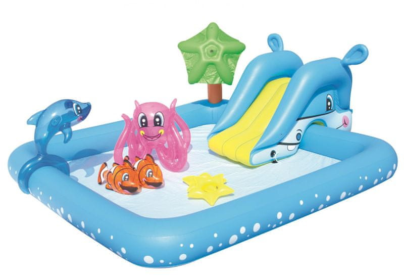 Bestway 53052 Nafukovací bazének se skluzavkou a doplňky