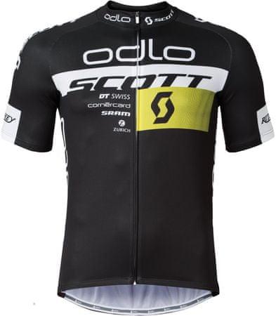 ODLO kolesarska majica Scott Odlo Team Rep. Stand-up collar s/s zip, črna, S