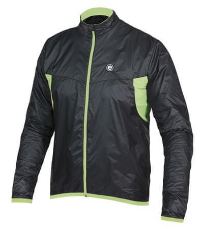 Etape Vento Férfi Kerékpáros dzseki, Fekete/zöld XL