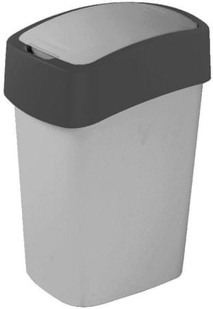 Curver koš za smeti Pacific Flip bin 25 L, črno-antracit