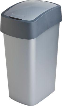 CURVER Kosz na śmieci Pacific Flip bin 50 L, szary