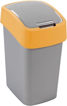Curver Koš za smeti Pacific Flip bin 25 l, rumeno-srebrn