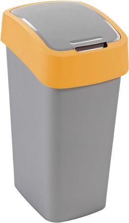 Curver Koš za smeti Pacific Flip bin 50 l, rumeno-srebrn