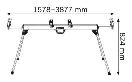 BOSCH Professional delovna miza GTA 3800 (0601B24000)