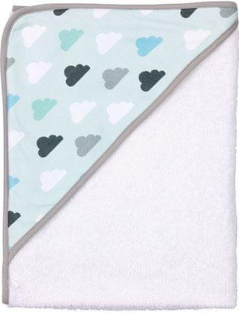 Bebe-jou otroška brisača s kapuco, oblački in zvezdice