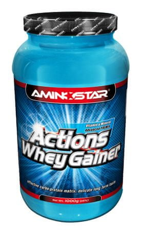 Aminostar Whey Gainer Actions, 2250g Jahoda