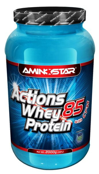 Aminostar Whey Protein Actions 85%, 2000g Banán