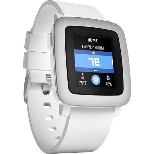 Pebble chytré hodinky Time, bílé