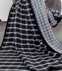Ibena Jacquard deka kostka a kohoutí stopa 150x200 cm