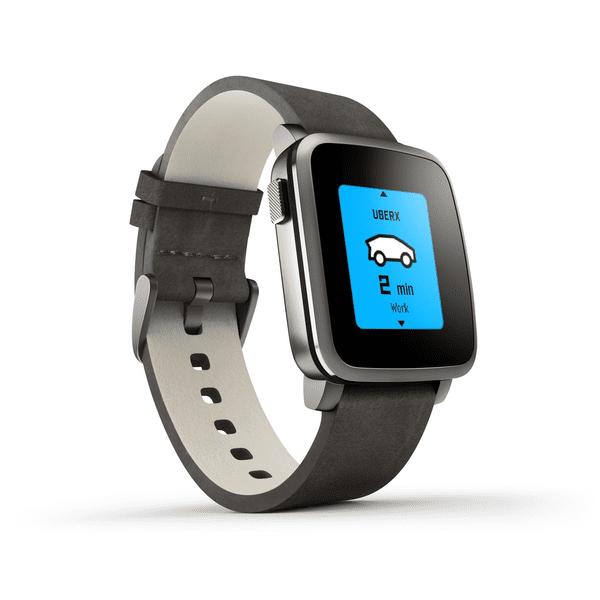 Pebble chytré hodinky Time Steel, černé