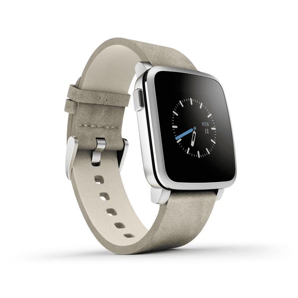 Pebble chytré hodinky Time Steel, stříbrné