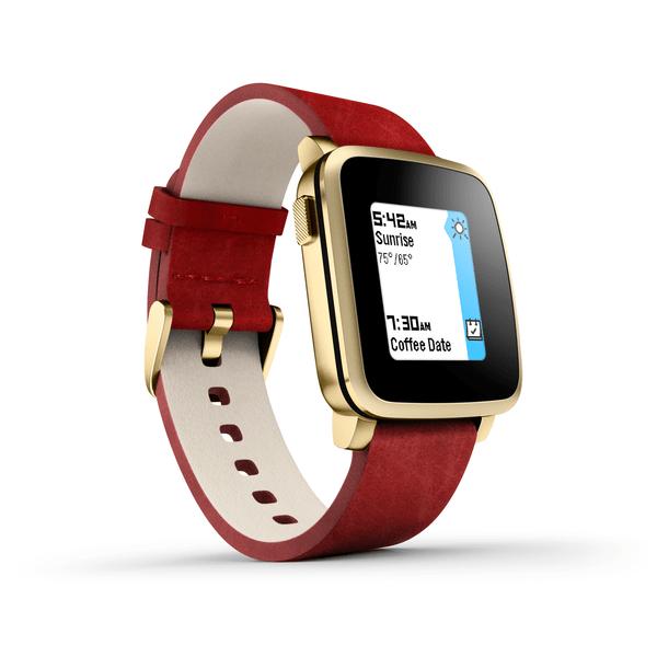 Pebble chytré hodinky Time Steel, zlaté