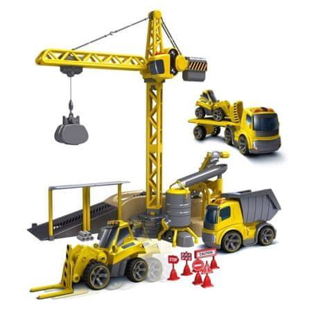 SILVERLIT RC Daru,teherautó, buldózer és billenős távirányítós autó
