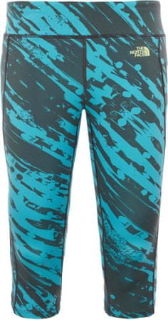 The North Face W Pulse Capri Tight Bluebird Paintball Print S
