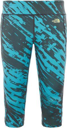 The North Face legginsy W Pulse Capri Tight Bluebird Paintball Print M