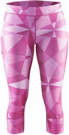 Craft 3/4 hlače Devotion, roza potisk, L