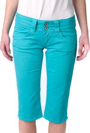 Pepe Jeans dámské kraťasy Venus Crop 32 tyrkysová
