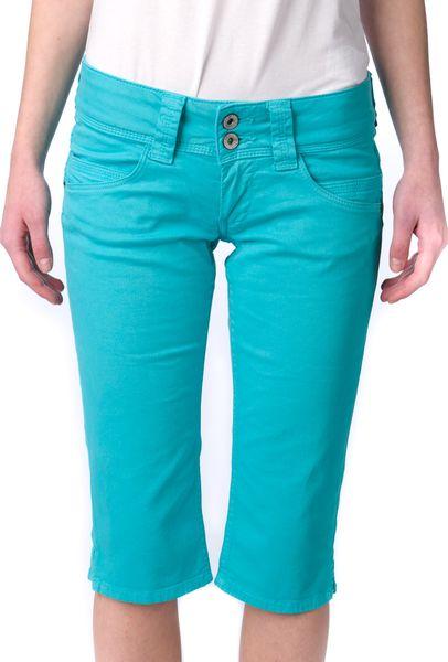 Pepe Jeans dámské kraťasy Venus Crop 26 tyrkysová