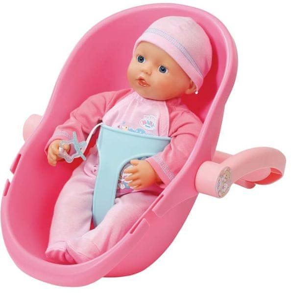 BABY born Super Soft panenka s přenosnou sedačkou