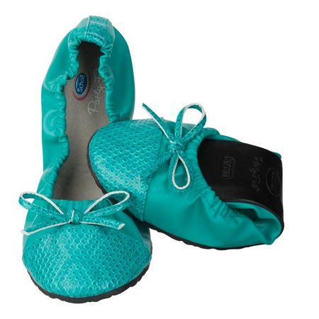Scholl ženske balerinke Pocket Ballerina 35/36 turkizna