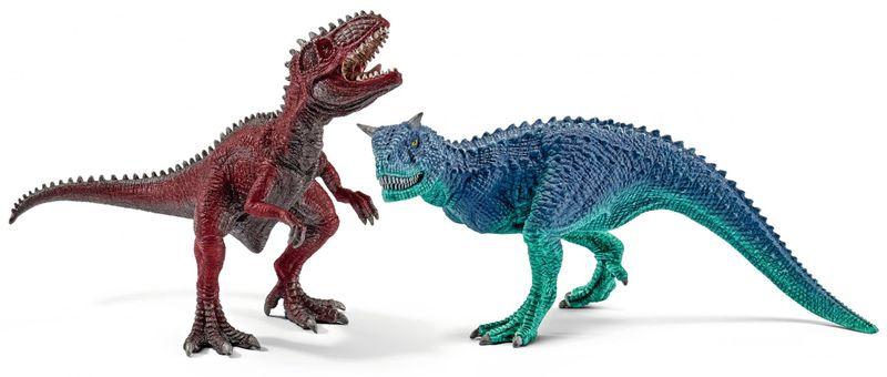 Schleich Prehistorická zvířátka - Gyganotosaurus a Carnotaurus malí 42215