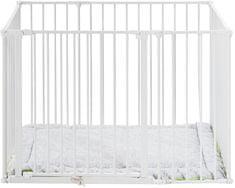 BabyDan Dětská ohrádka Square playpen bílá + matrace